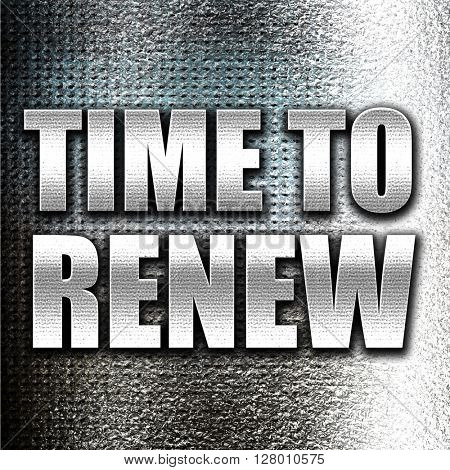 time to renew poster