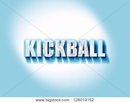 kickball sign background