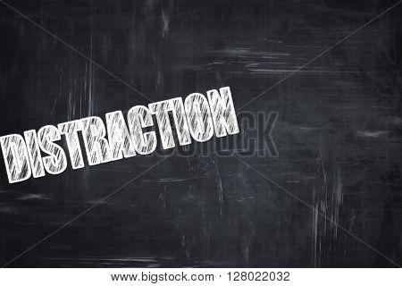 Chalkboard writing: distraction