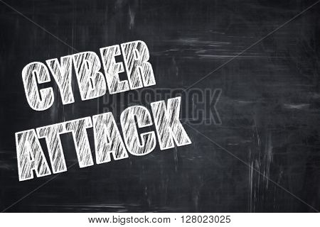 Chalkboard writing: Cyber attack background