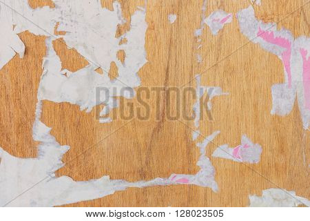 Tear Paper On Old Wood Texture For Background