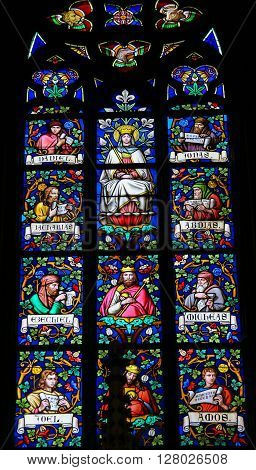 Stained Glass - Mother Mary And Prophets