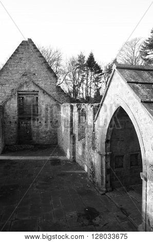 A view of the ruins of St. Bridgets Kirk