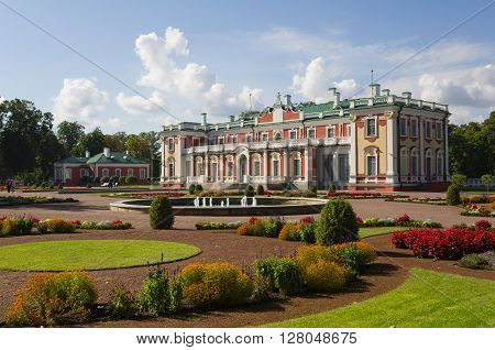 Kadriorg Palace was built by Tsar Peter the Great in the 18th Century Tallinn Estonia poster
