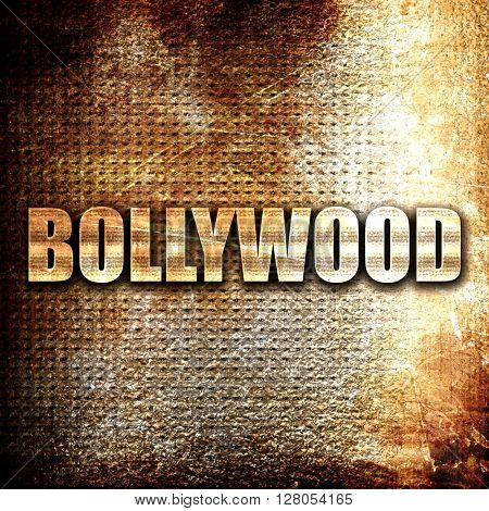 bollywood, written on vintage metal texture