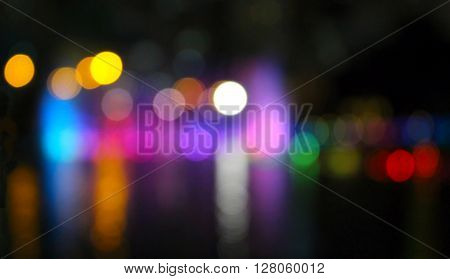 Bokeh with yellow, blue and pink colors, Night city street lights bokeh background, Defocused bokeh lights, Blurred bokeh, Bokeh light vintage background, Abstract colorful defocused dot, Soft focus