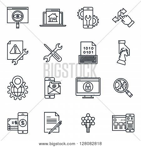 Search Engine Optimisation And Design Icon Set