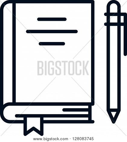 Book And Pen Icon