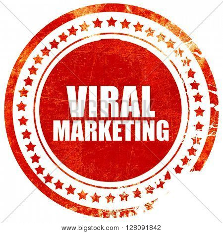 viral marketing, grunge red rubber stamp with rough lines and ed