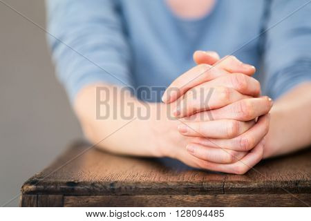 Praying Hands - Closeup