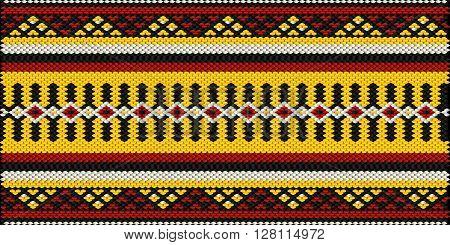 Vintage Arabian Style Sadu Weaving Illustrated Background