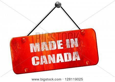 Made in canada, 3D rendering, vintage old red sign