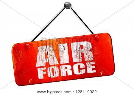 air force, 3D rendering, vintage old red sign