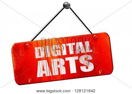 digital arts, 3D rendering, vintage old red sign