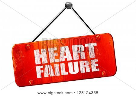 heart failure, 3D rendering, vintage old red sign