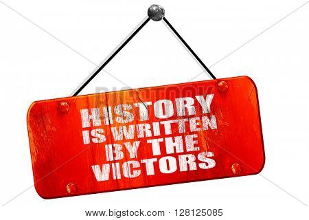 history is written by the victors, 3D rendering, vintage old red