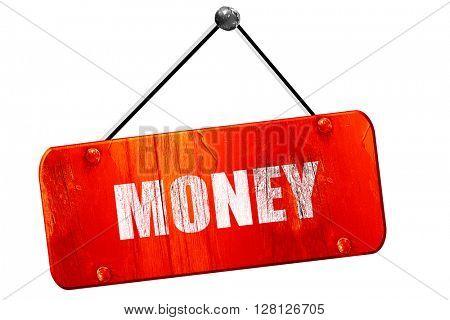 money, 3D rendering, vintage old red sign