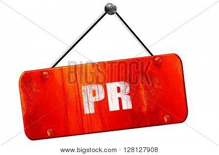 pr, 3D rendering, vintage old red sign