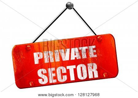 private sector, 3D rendering, vintage old red sign