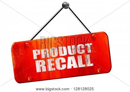 product recall, 3D rendering, vintage old red sign