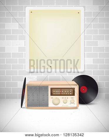 Vintage Still Life With Blank Poster For Your Text