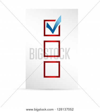template ballot paper. Elections icons. check marks. Vector.