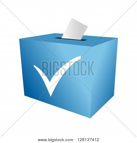 Cast your vote. ballot paper. putting voting paper in the ballot box blue.