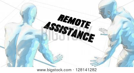 Remote Assistance Discussion and Business Meeting Concept Art 3D Illustration Render