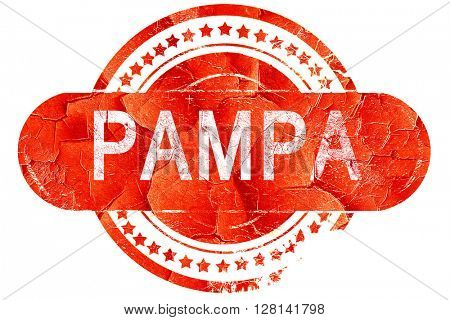 pampa, vintage old stamp with rough lines and edges
