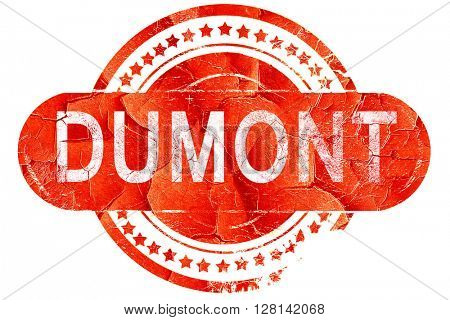 dumont, vintage old stamp with rough lines and edges