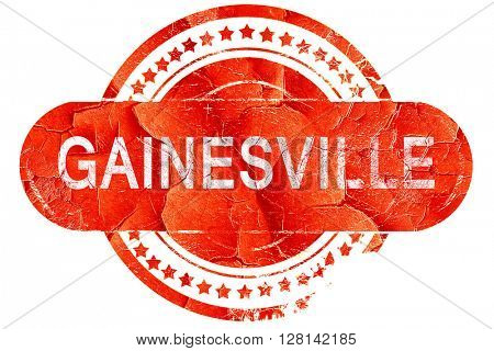 gainesville, vintage old stamp with rough lines and edges