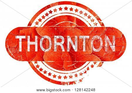 thornton, vintage old stamp with rough lines and edges