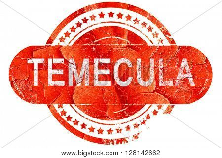 temecula, vintage old stamp with rough lines and edges