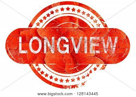longview, vintage old stamp with rough lines and edges