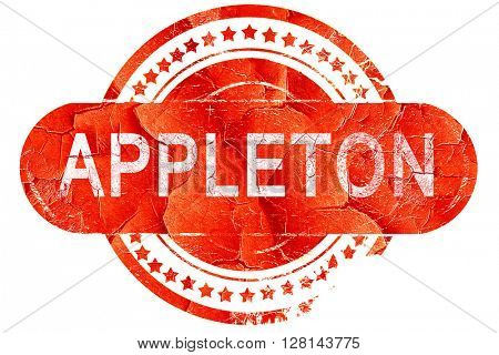 appleton, vintage old stamp with rough lines and edges