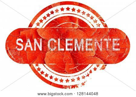 san clemente, vintage old stamp with rough lines and edges
