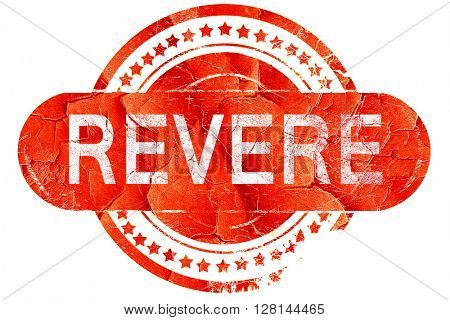 revere, vintage old stamp with rough lines and edges