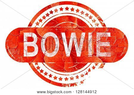poster of bowie, vintage old stamp with rough lines and edges