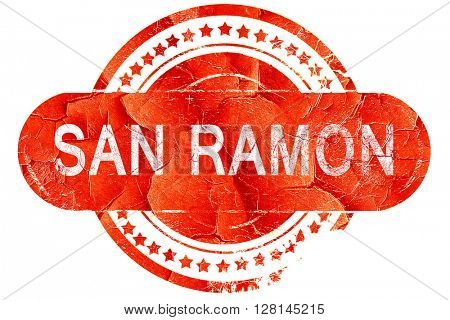 san ramon, vintage old stamp with rough lines and edges