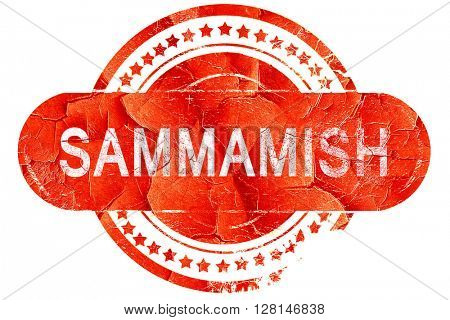 sammamish, vintage old stamp with rough lines and edges