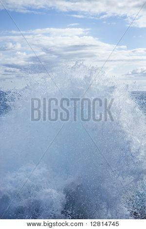Wave splashing water.