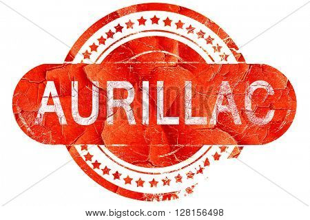 aurillac, vintage old stamp with rough lines and edges
