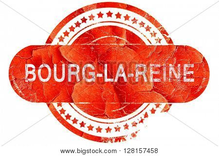 bourg-la-reine, vintage old stamp with rough lines and edges