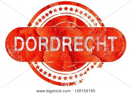 Dordrecht, vintage old stamp with rough lines and edges