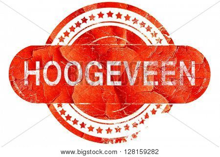 Hoogeveen, vintage old stamp with rough lines and edges