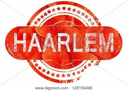Haarlem, vintage old stamp with rough lines and edges