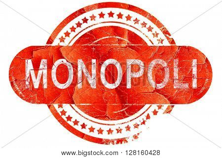 Monopoli, vintage old stamp with rough lines and edges