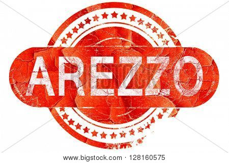 Arezzo, vintage old stamp with rough lines and edges