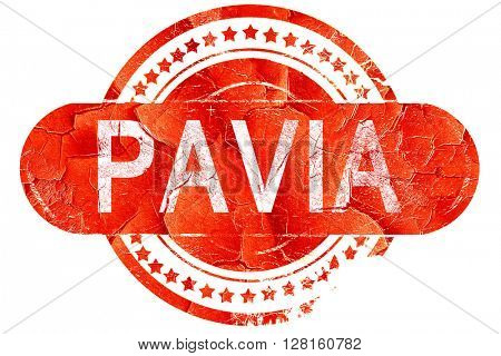 Pavia, vintage old stamp with rough lines and edges