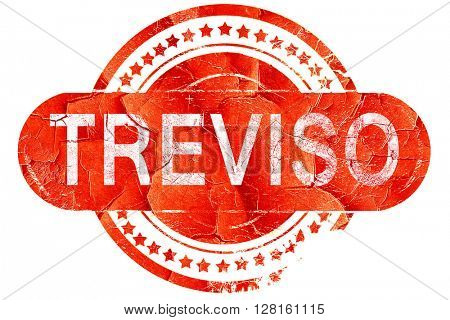 Treviso, vintage old stamp with rough lines and edges
